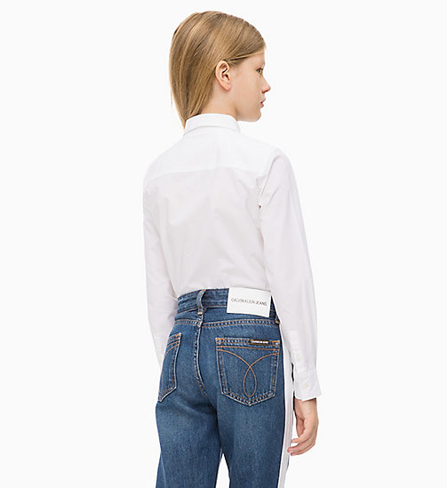 CALVIN KLEIN JEANS Lang relaxed T-shirt - BRIGHT WHITE - CALVIN KLEIN JEANS MEISJES - detail image 1
