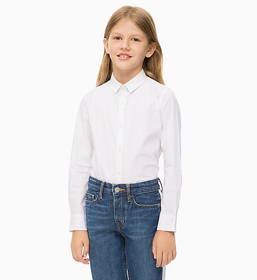 CALVIN KLEIN JEANS Lang relaxed T-shirt - BRIGHT WHITE - CALVIN KLEIN JEANS MEISJES - main image