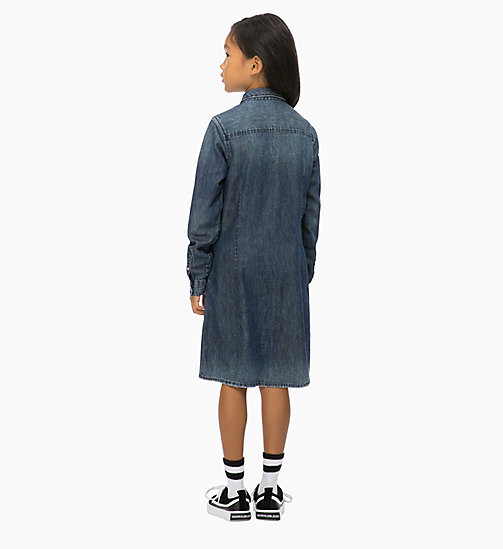 CALVIN KLEIN JEANS Denim Shirt Dress - DARK BLUE RIGID - CALVIN KLEIN JEANS GIRLS - detail image 1