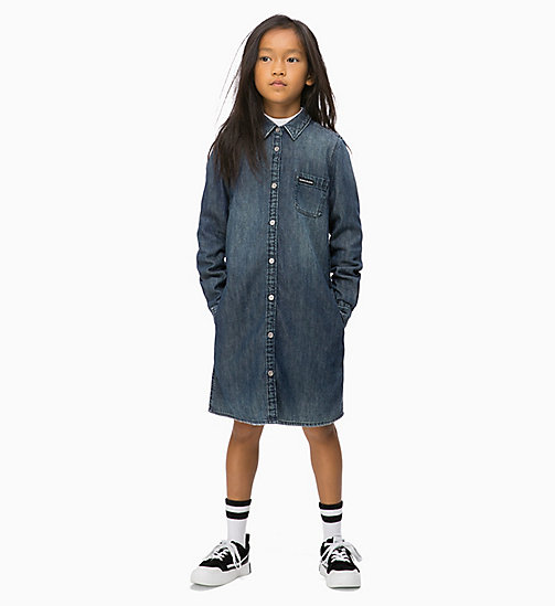 CALVIN KLEIN JEANS Denim Shirt Dress - DARK BLUE RIGID - CALVIN KLEIN JEANS MEN - main image