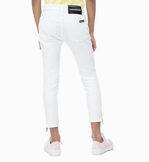 CALVIN KLEIN JEANS Skinny Ankle Jeans - CLEAN WHITE  ZIP STRETCH - CALVIN KLEIN JEANS MEN - detail image 1