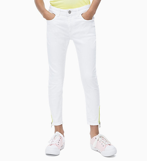 CALVIN KLEIN JEANS Skinny Ankle Jeans - CLEAN WHITE  ZIP STRETCH - CALVIN KLEIN JEANS MEN - main image