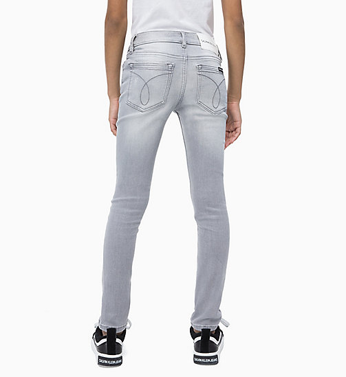 CALVIN KLEIN JEANS Jeans skinny - LIGHT GREY DESTRUCTED STRETCH - CALVIN KLEIN JEANS UOMO - dettaglio immagine 1