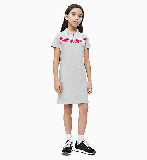 CALVIN KLEIN JEANS Polo Dress - LIGHT GREY HEATHER - CALVIN KLEIN JEANS MEN - main image