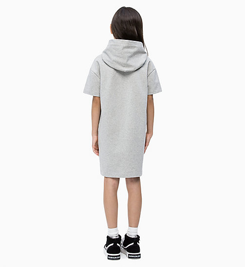 CALVIN KLEIN JEANS Hooded Sweatshirt Dress - LIGHT GREY HEATHER - CALVIN KLEIN JEANS MEN - detail image 1