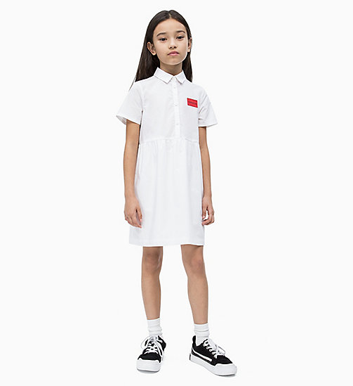 CALVIN KLEIN JEANS Shirt Dress - BRIGHT WHITE - CALVIN KLEIN JEANS MEN - main image