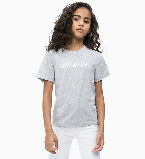 CALVIN KLEIN JEANS Logo T-shirt - LIGHT GREY HEATHER - CALVIN KLEIN JEANS MEN - main image