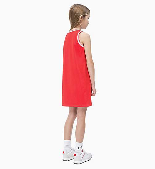 CALVIN KLEIN JEANS Sporty Mesh Dress - RACING RED - CALVIN KLEIN JEANS MEN - detail image 1