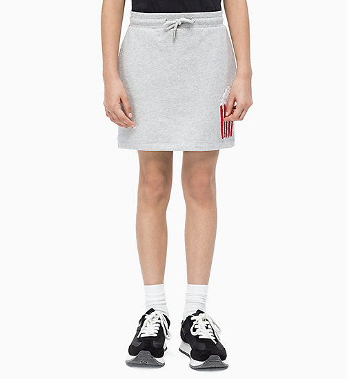 CALVIN KLEIN JEANS Popcorn Appliqué Skirt - LIGHT GREY HEATHER - CALVIN KLEIN JEANS MEN - main image