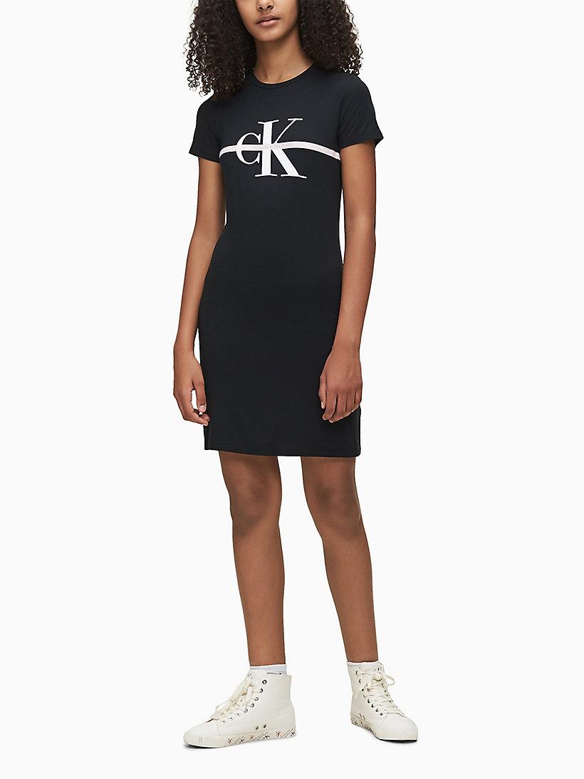 Robe T Shirt Avec Logo Calvin Klein Ig0ig00480bae