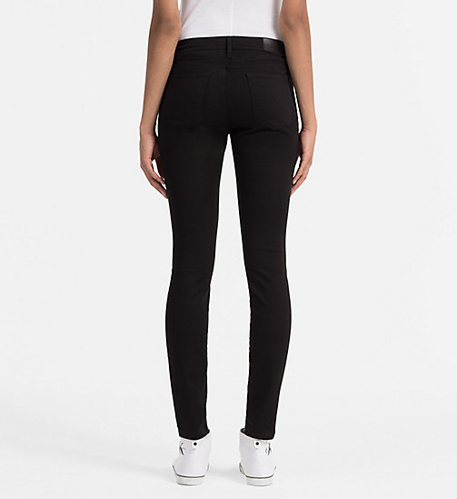 CALVIN KLEIN JEANS Mid Rise Skinny Jeans - POP BLACK - CALVIN KLEIN JEANS SKINNY JEANS - detail image 1
