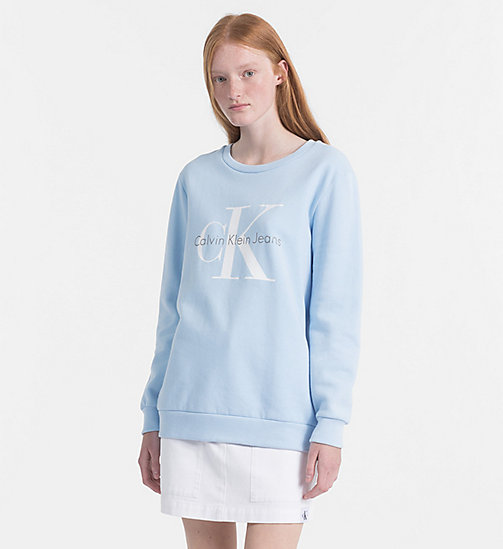 CALVIN KLEIN JEANS Logo Sweatshirt - CHAMBRAY BLUE - CALVIN KLEIN JEANS NEW IN - main image