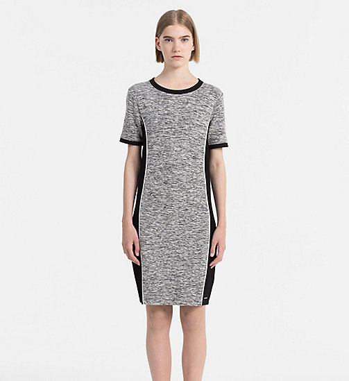 CALVIN KLEIN JEANS Melange Knit Dress - CK BLACK - CALVIN KLEIN JEANS CLOTHES - main image