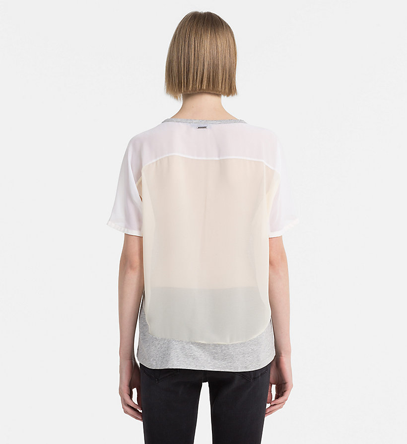 CALVIN KLEIN JEANS Material Mix T-shirt - BRIGHT WHITE / MAZARINE BLUE - CALVIN KLEIN JEANS T-SHIRTS - detail image 2