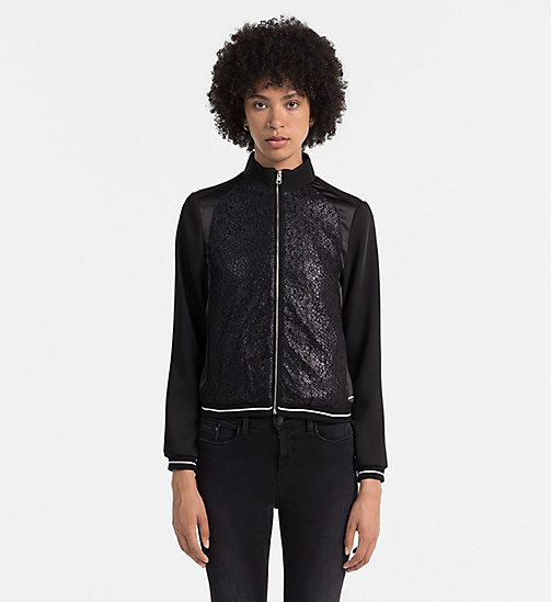 CALVIN KLEIN JEANS Material Mix Track Jacket - CK BLACK - CALVIN KLEIN JEANS CLOTHES - main image