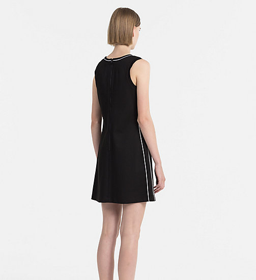 CALVIN KLEIN JEANS Textured Jersey Dress - CK BLACK - CALVIN KLEIN JEANS CLOTHES - detail image 1