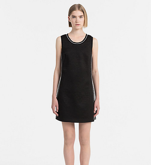 CALVIN KLEIN JEANS Textured Jersey Dress - CK BLACK - CALVIN KLEIN JEANS CLOTHES - main image
