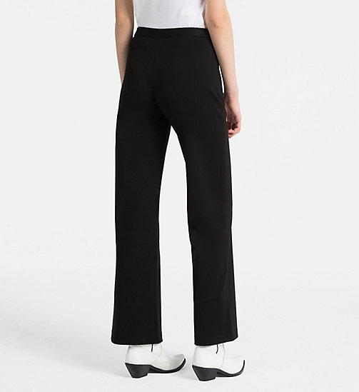 CALVIN KLEIN JEANS High Rise Straight Trousers - CK BLACK - CALVIN KLEIN JEANS TROUSERS & SHORTS - detail image 1