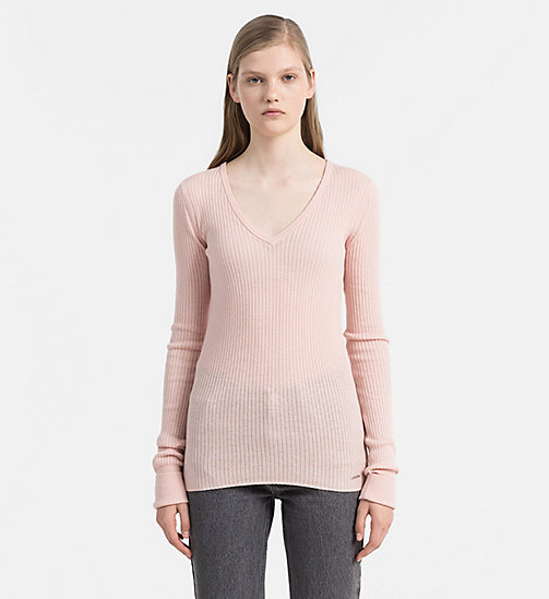 CALVIN KLEIN JEANS Wool Blend Sweater - PEACHY KEEN - CALVIN KLEIN JEANS CLOTHES - main image