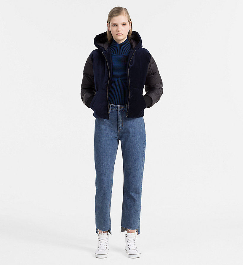 CALVIN KLEIN JEANS Rib-Knit Turtleneck Sweater - CK BLACK / RABBIT - CALVIN KLEIN JEANS JUMPERS - detail image 1