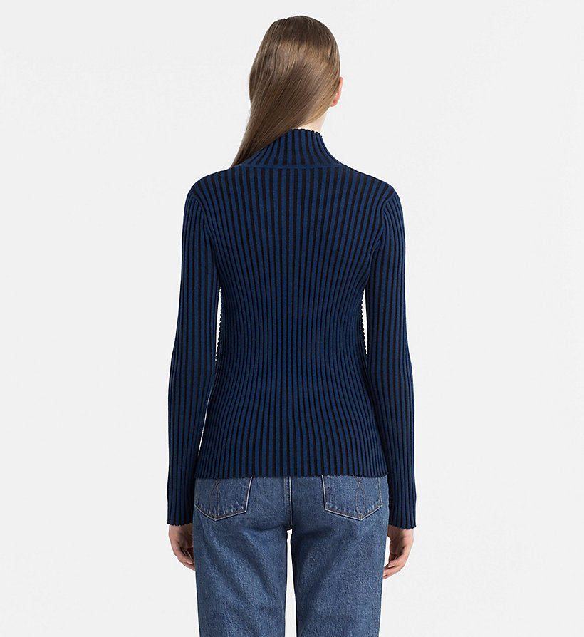 CALVIN KLEIN JEANS Rib-Knit Turtleneck Sweater - CK BLACK / RABBIT - CALVIN KLEIN JEANS JUMPERS - detail image 2