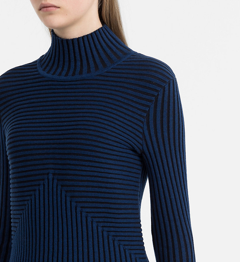CALVIN KLEIN JEANS Rib-Knit Turtleneck Sweater - CK BLACK / RABBIT - CALVIN KLEIN JEANS JUMPERS - detail image 3