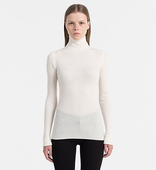 CALVIN KLEIN JEANS Wool Blend Roll Neck Sweater - EGRET - CALVIN KLEIN JEANS CLOTHES - main image