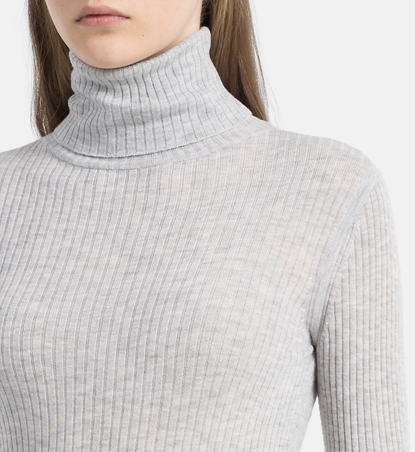 CALVIN KLEIN JEANS Wool Blend Roll Neck Sweater - EGRET - CALVIN KLEIN JEANS JUMPERS - detail image 3