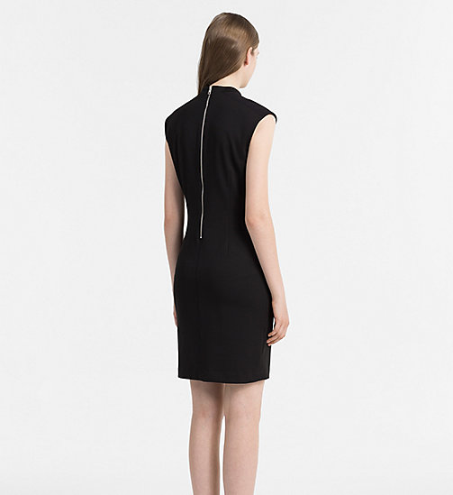 CALVIN KLEIN JEANS Fitted Jersey Dress - CK BLACK - CALVIN KLEIN JEANS CLOTHES - detail image 1