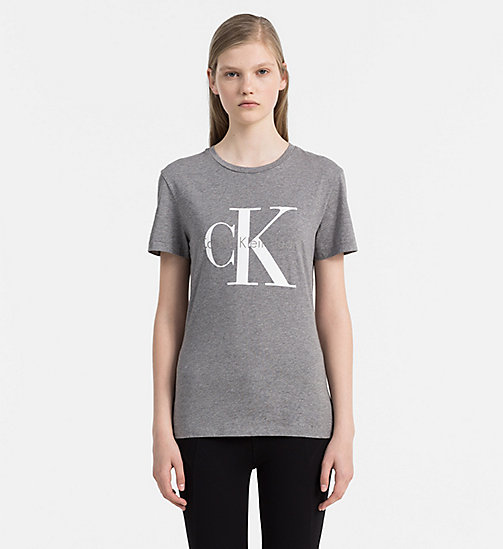 CALVIN KLEIN JEANS Logo-T-Shirt - MID GREY HEATHER -  NEW IN - main image