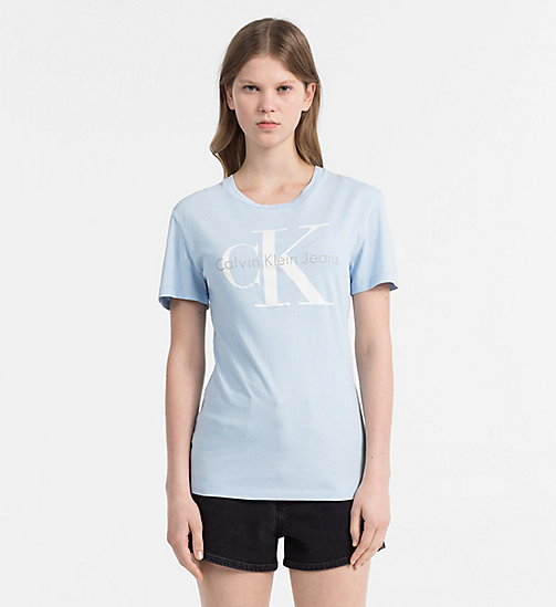 CALVIN KLEIN JEANS Logo T-shirt - CHAMBRAY BLUE - CALVIN KLEIN JEANS NEW IN - main image