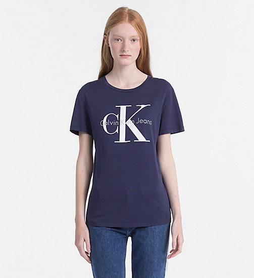 CALVIN KLEIN JEANS Logo-T-Shirt - PEACOAT -  NEW IN - main image
