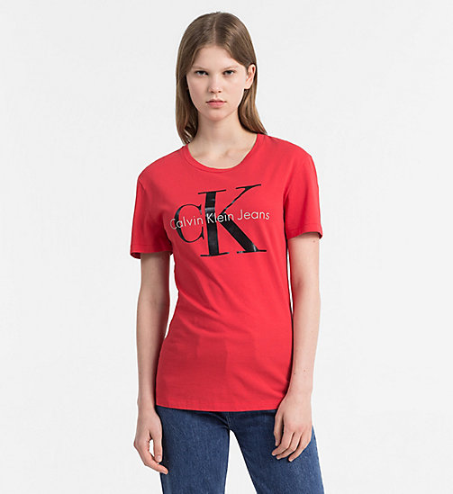 CALVIN KLEIN JEANS Logo-T-Shirt - TANGO RED -  NEW IN - main image