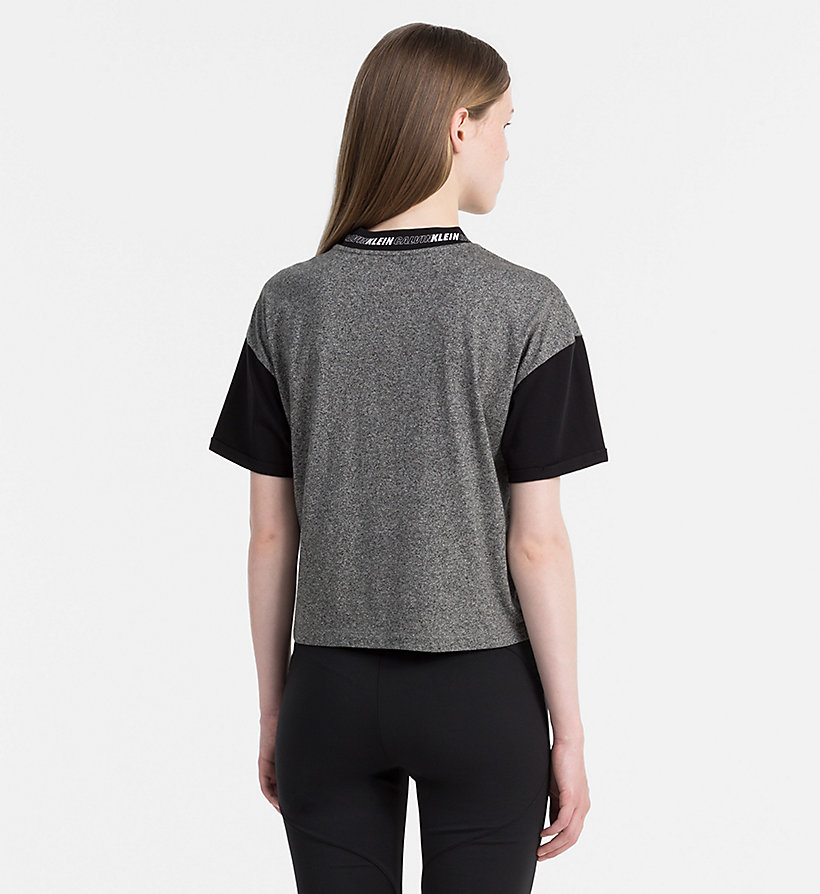 CALVIN KLEIN JEANS Sportieve cropped top - PEACHY KEEN / CK BLACK - CALVIN KLEIN JEANS T-SHIRTS - detail image 2