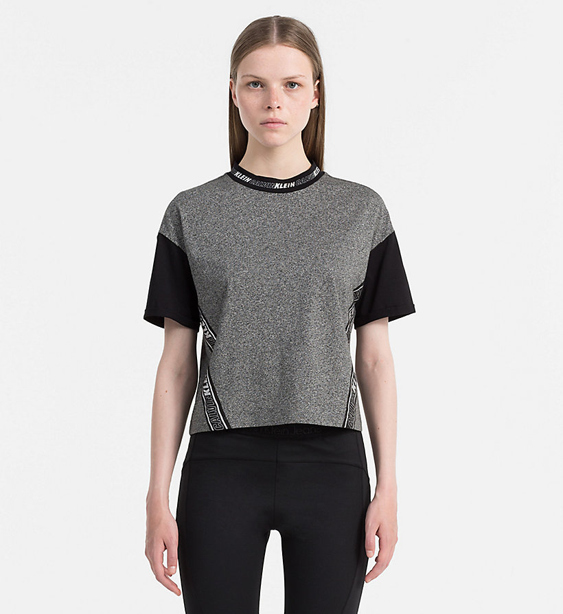CALVIN KLEIN JEANS Sporty Cropped Top - PEACHY KEEN / CK BLACK - CALVIN KLEIN JEANS T-SHIRTS - main image