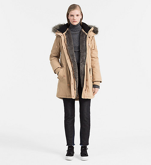 CALVIN KLEIN JEANS Padded Parka Coat - TANNIN - CALVIN KLEIN JEANS CLOTHES - detail image 1