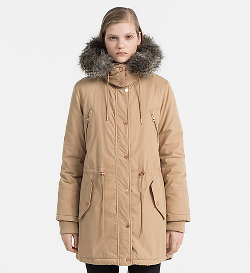 CALVIN KLEIN JEANS Padded Parka Coat - TANNIN - CALVIN KLEIN JEANS CLOTHES - main image