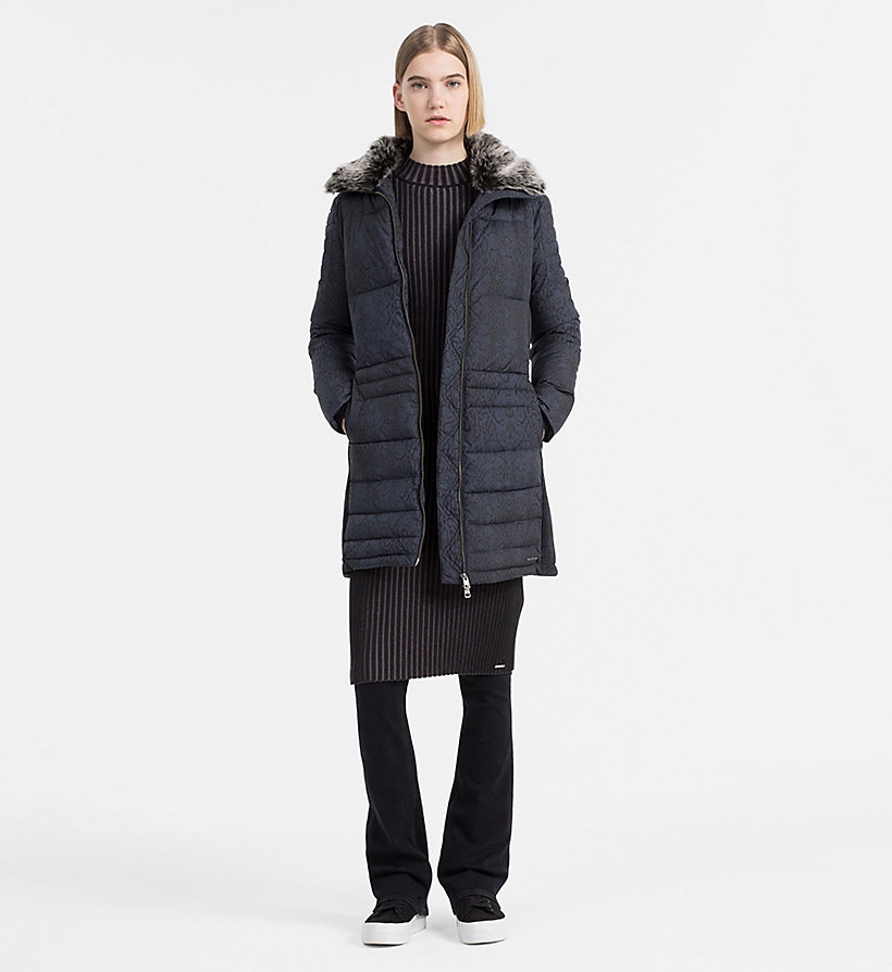 CALVIN KLEIN JEANS Fitted Padded Coat - CK BLACK - CALVIN KLEIN JEANS COATS & JACKETS - detail image 1