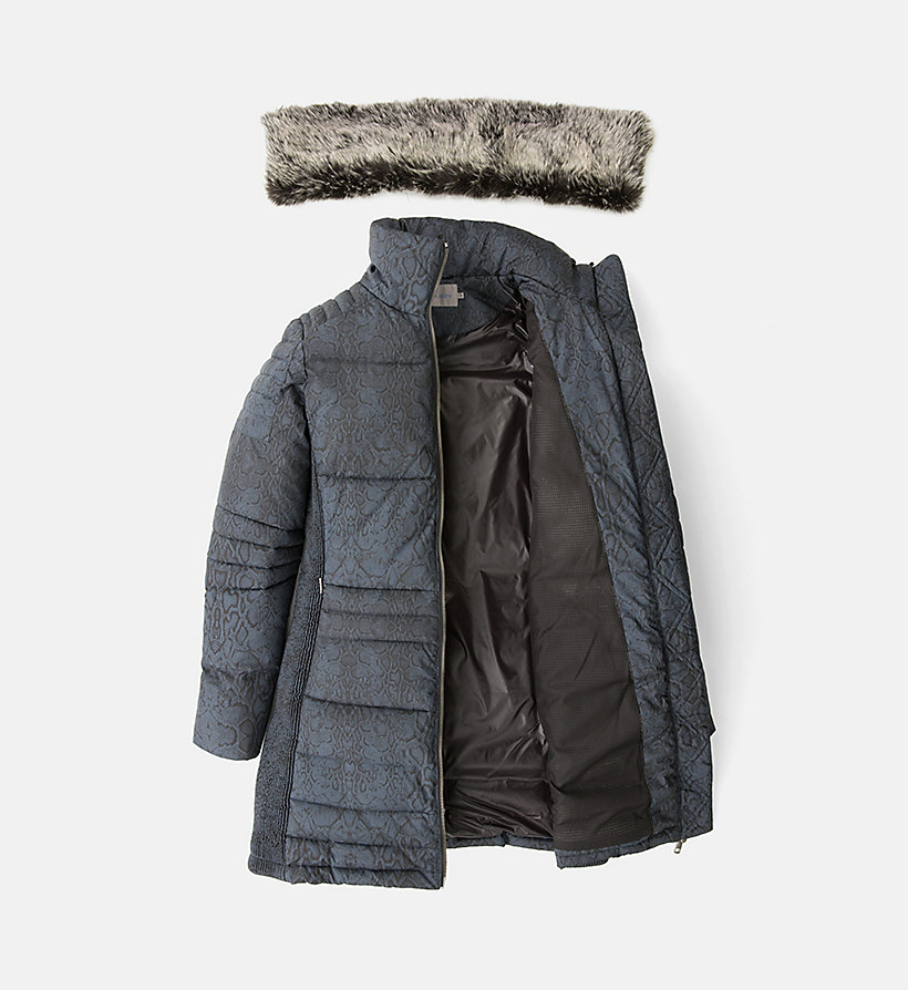 CALVIN KLEIN JEANS Fitted Padded Coat - CK BLACK - CALVIN KLEIN JEANS COATS & JACKETS - detail image 4