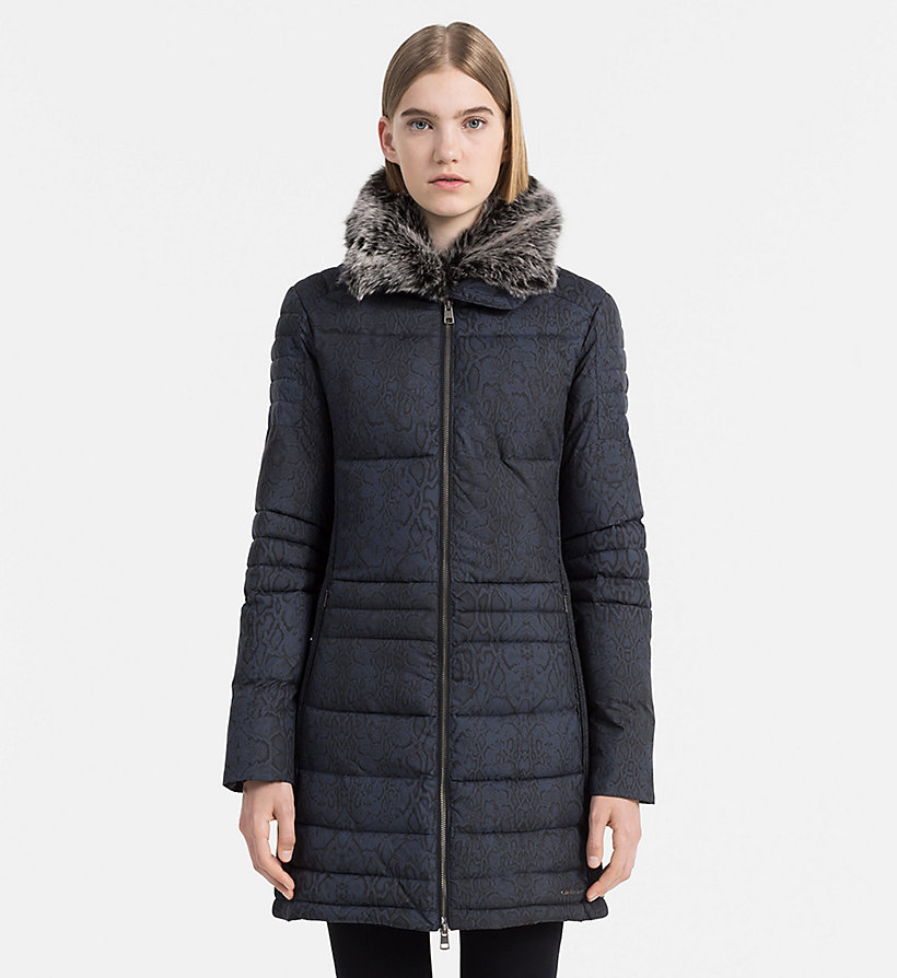 CALVIN KLEIN JEANS Fitted Padded Coat - CK BLACK - CALVIN KLEIN JEANS COATS & JACKETS - main image