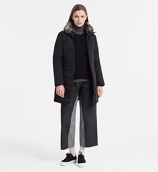 CALVIN KLEIN JEANS Fitted Padded Coat - CK BLACK - CALVIN KLEIN JEANS CLOTHES - detail image 1