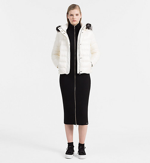 CALVIN KLEIN JEANS Hooded Down Jacket - EGRET - CALVIN KLEIN JEANS CLOTHES - detail image 1