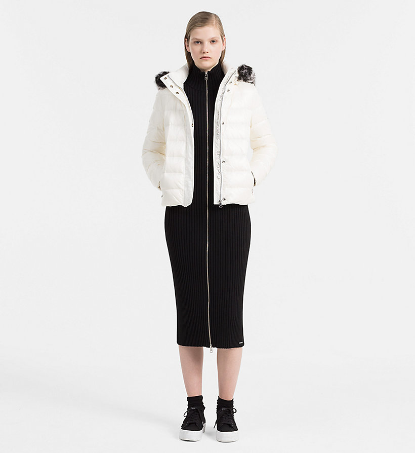 CALVIN KLEIN JEANS Hooded Down Jacket - FIG - CALVIN KLEIN JEANS COATS & JACKETS - detail image 1