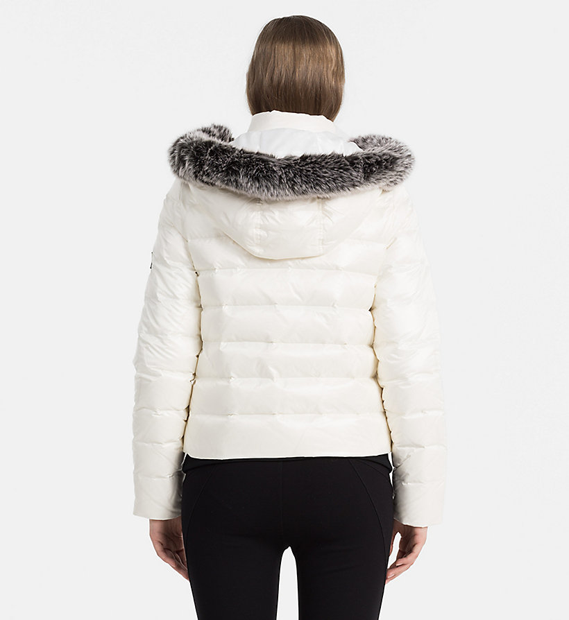 CALVIN KLEIN JEANS Hooded Down Jacket - FIG - CALVIN KLEIN JEANS COATS & JACKETS - detail image 2