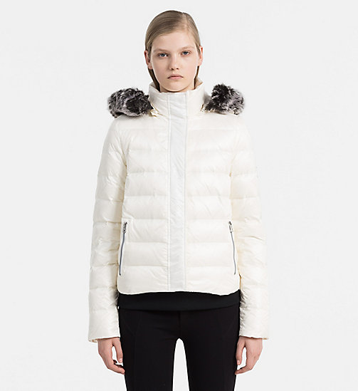CALVIN KLEIN JEANS Hooded Down Jacket - EGRET - CALVIN KLEIN JEANS CLOTHES - main image