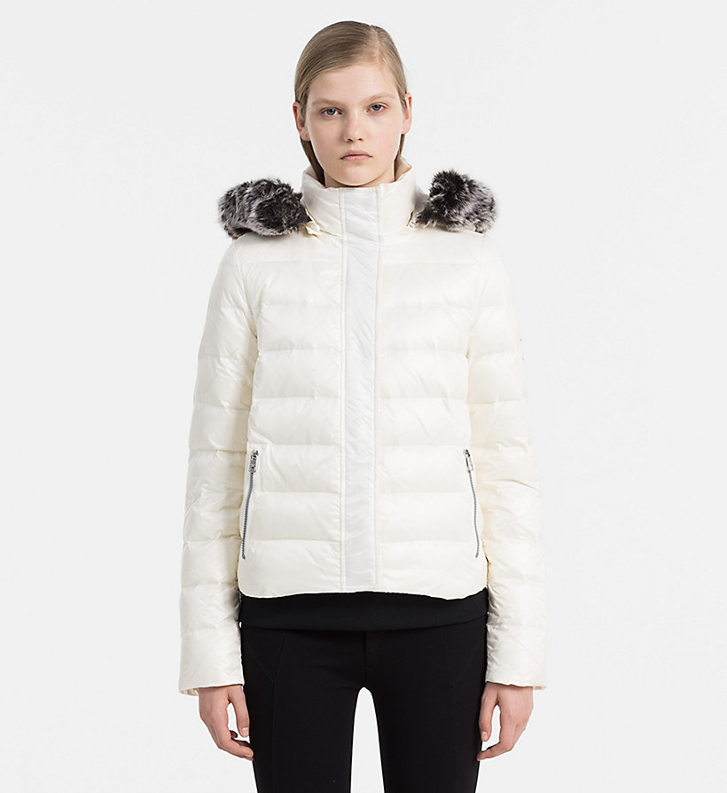 CALVIN KLEIN JEANS Hooded Down Jacket - FIG - CALVIN KLEIN JEANS COATS & JACKETS - main image