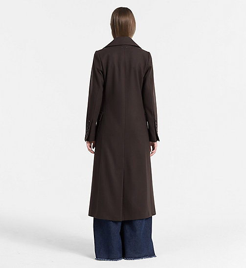 CALVIN KLEIN JEANS Wool Cashmere Military Coat - GRAPE LEAF - CALVIN KLEIN JEANS CLOTHES - detail image 1
