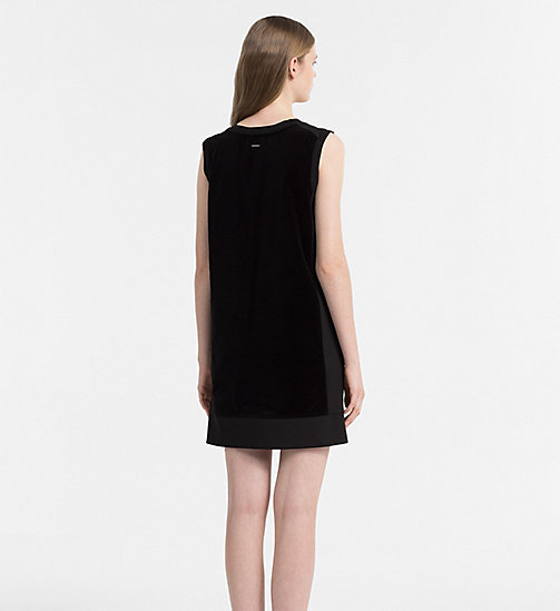 CALVIN KLEIN JEANS Velvet Dress - CK BLACK - CALVIN KLEIN JEANS CLOTHES - detail image 1