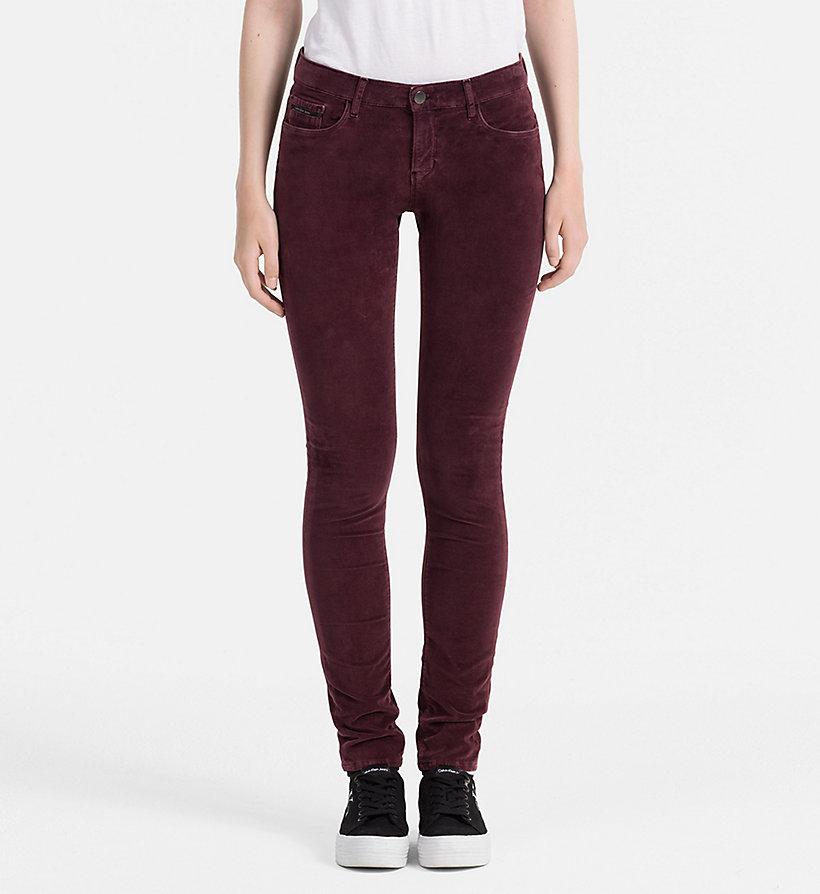 slim velvet trousers calvin klein j20j206059. Black Bedroom Furniture Sets. Home Design Ideas
