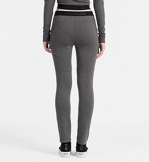 CALVIN KLEIN JEANS Milano Jersey Leggings - MID GREY HEATHER - CALVIN KLEIN JEANS CLOTHES - detail image 1